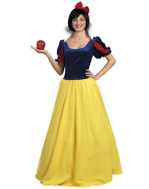 Costum alba zăpezilor Deluxe pentru femeie mărime mare