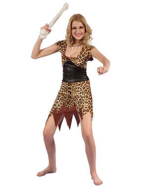 Holbewoner van de grotten kostuum voor vrouw