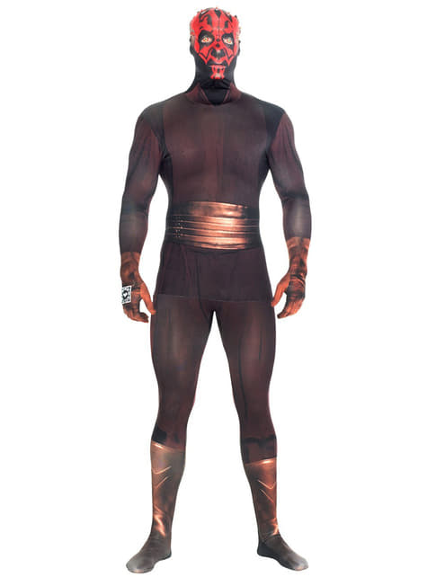 Disfraz de Darth Maul Deluxe Morphsuit - adulto