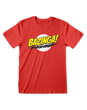 Czerwona koszulka The Big Bang Theory dla mężczyzn