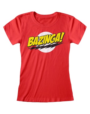 Camiseta de The Big Bang Theory roja para mujer