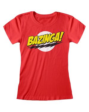 Camiseta de The Big Bang Theory roja para mujer