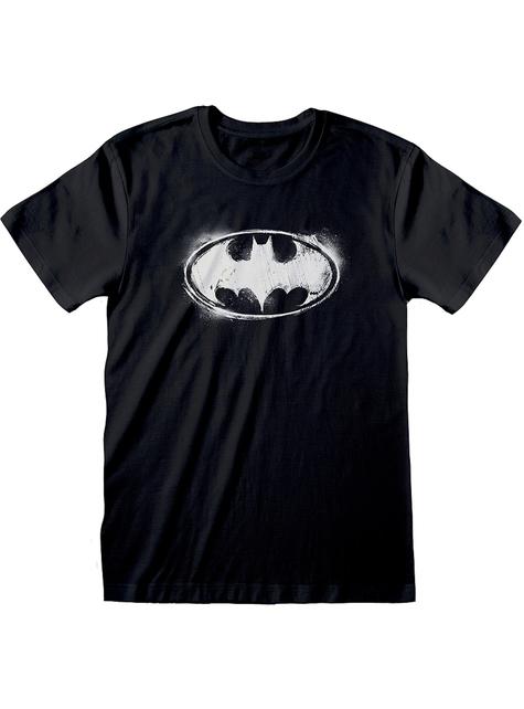 Camiseta de Batman logo negra para hombre - DC Comics