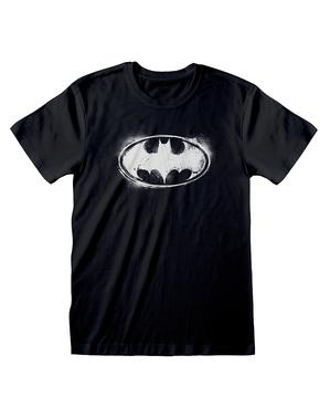 Черна мъжка тениска с емблемата на Батман– комикси DC