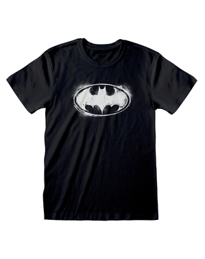 DCコミックス バットマンのロゴ男性用Tシャツ、黒