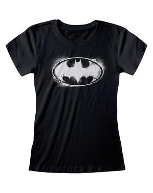 לוגו באטמן חולצת טי לנשים קומיקס שחור DC
