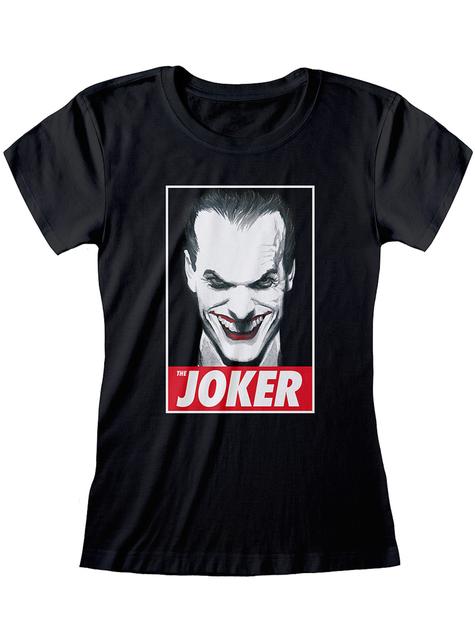 T-shirt de Joker preta para mulher - DC Comics