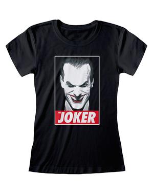 Черна дамска тениска със Жокера– комикси DC