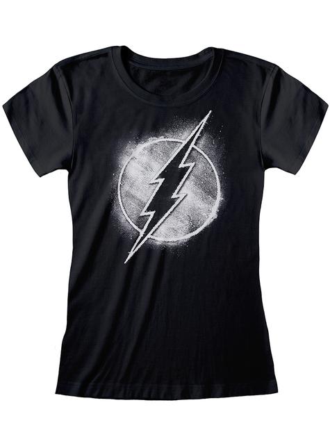 Camiseta de Flash negra para mujer - DC Comics