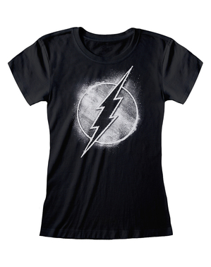 Flash T-Shirt schwarz für Damen - DC Comics