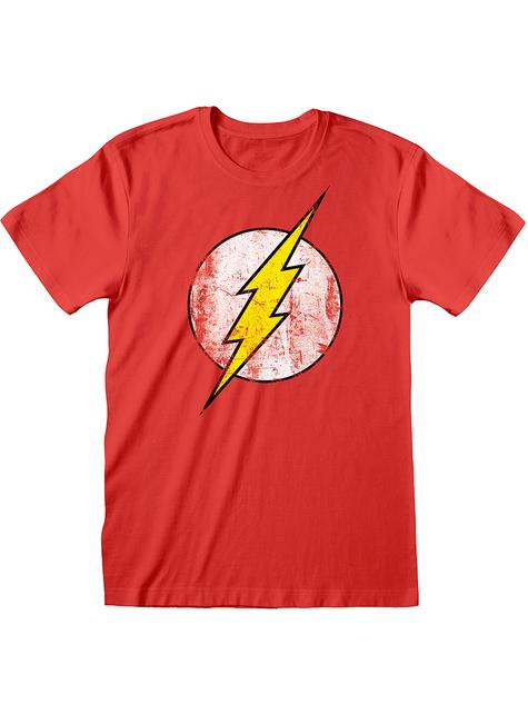 Flash T-shirt voor heren in rood - DC Comics