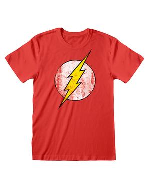 DCコミックス フラッシュ男性用Tシャツ、赤