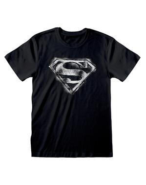 חולצת טריקו לוגו סופרמן לגברים - קומיקס DC