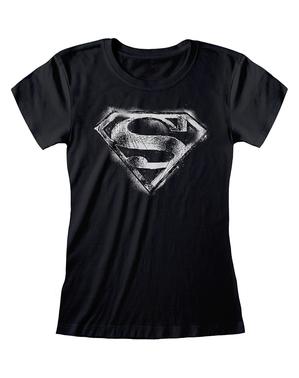 חולצת טריקו לוגו סופרמן לנשים - קומיקס DC