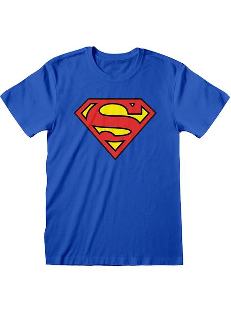 Superman klassisk logo T-skjorte til menn - DC Comics