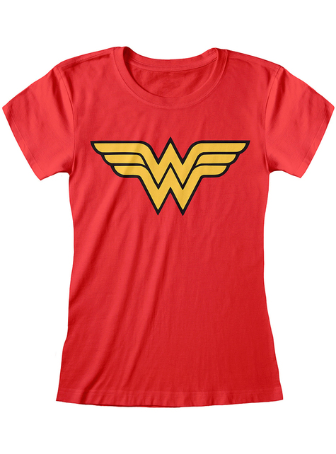 T-shirt de Mulher-Maravilha logo para mulher - DC Comics