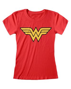 Camiseta de Wonder Woman logo para mujer - DC Comics