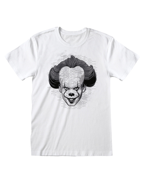 Pennywise T-Shirt voor mannen in wit - IT Chapter 2