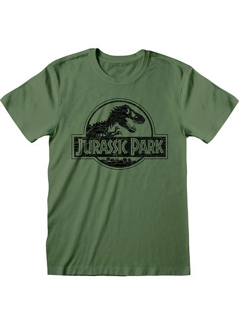 Zielona koszulka Park Jurajski dla mężczyzn