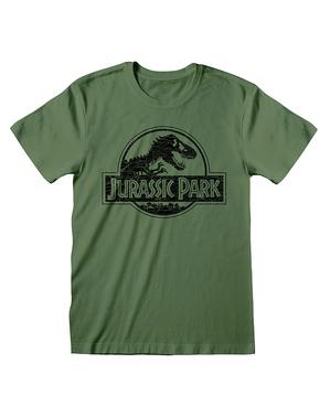 Jurassic Park T-shirt til mænd i grøn