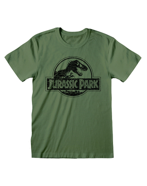 T-shirt de Jurassic Park verde para homem