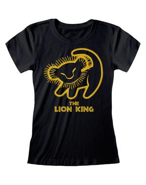 ディズニー ライオンキングのロゴ女性用Tシャツ