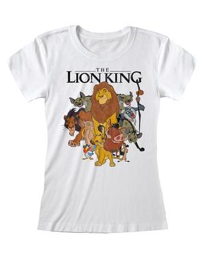 ディズニー ライオンキングのキャラクター女性用Tシャツ