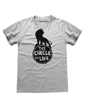 """Сива мъжка тениска със Симба– """"Цар Лъв"""""""