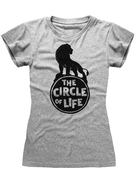 Camiseta de Simba gris para mujer - El Rey León