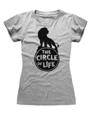 ライオンキング 女性用シンバTシャツ、グレー