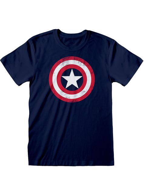 Niebieska koszulka Logo Kapitan Ameryka dla mężczyzn - Avengers