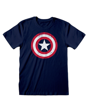 Captain America logo T-shirt for men in blue - The Avengers