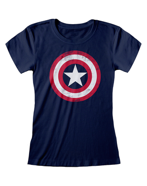 Captain America logo T-shirt voor dames in blauw - The Avengers
