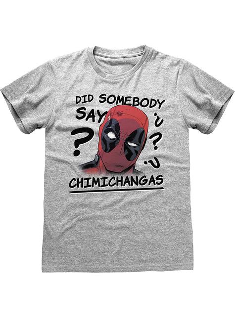 T-shirt de Deadpool cinzenta para homem - Marvel