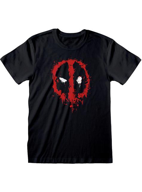 Camiseta de Deadpool logo negro para hombre - Marvel