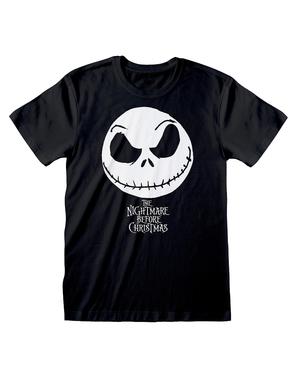 ナイトメア・ビフォア・クリスマスのジャック男性用Tシャツ、黒