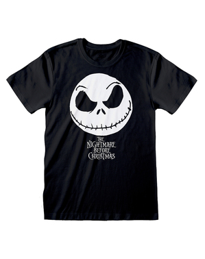 T-shirt di Jack Nightmare Before Christmas nera per uomo