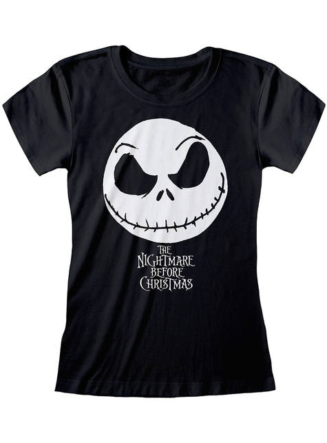 Czarna koszulka Jack Miasteczko Halloween dla kobiet