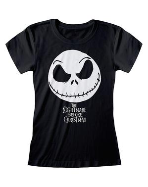 T-shirt de Jack O Estranho Mundo de Jack preta para mulher