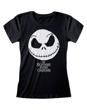 T-Shirt of Jack Nightmare before Christmas in black for women