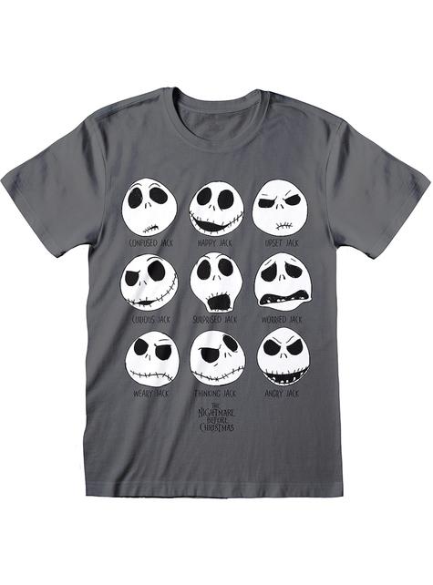 Camiseta de Jack Pesadilla Antes de Navidad gris para hombre
