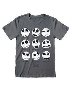T-Shirt של ג'ק הסיוט שלפני חג המולד באפור לגברים