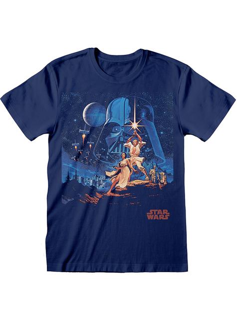 Tähtien Sota Uusi Toivo t-paita miehille sinisenä