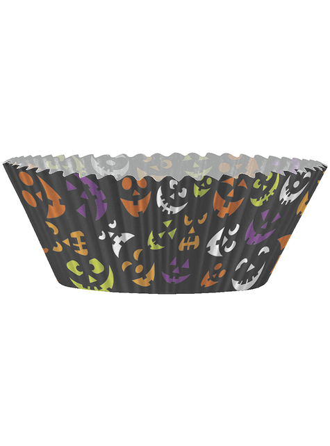 24 moules à cupcakes + 24 cake toppers Halloween - Basic Halloween
