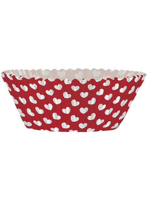 24 cupcake capsules + 24 heart toppers