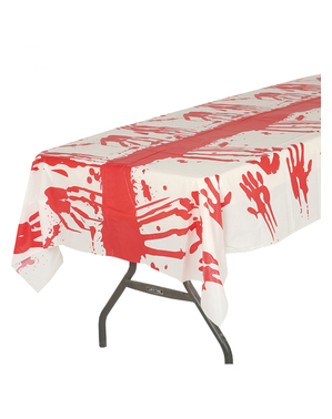 Tablecloth with blood for Halloween (135 x 270 cm)