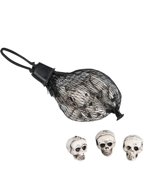 12 têtes de mort pour Halloween (10 cm)