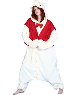 Elegantes Schweine Kostüm Bcozy Onesie für Erwachsene