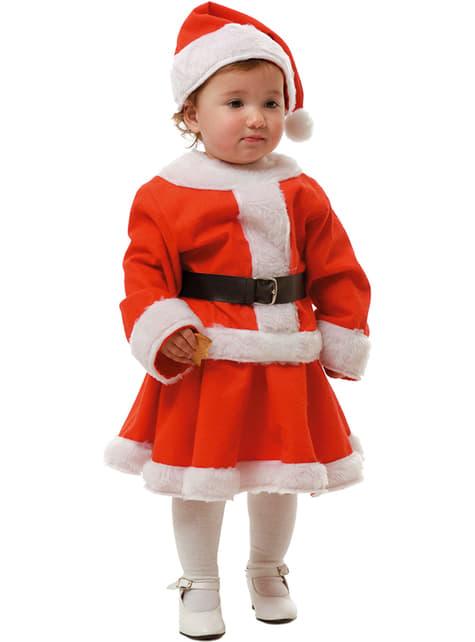Kostium Pani Mikołajowa dla dziewczynek i niemowląt