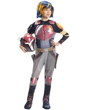 Fato de Sabine Wren Star Wars Rebels deluxe para menina
